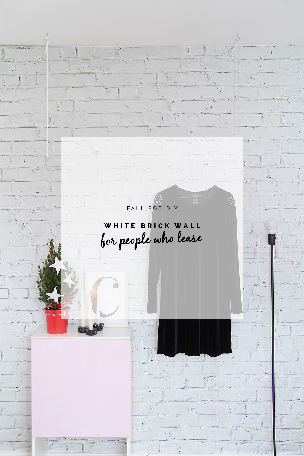 DIY White Brick Wall... for Renters! | Fall For DIY