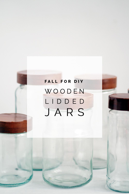 DIY Wooden Jar Lids | Fall For DIY