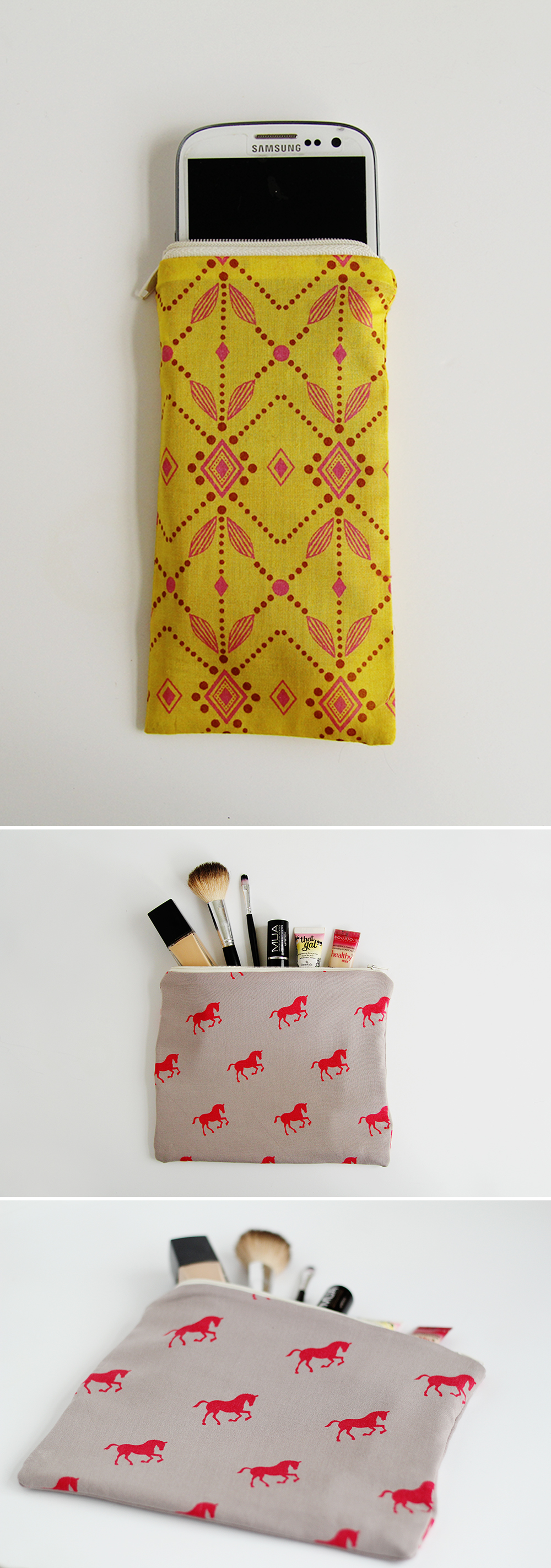 Fall For DIY Zip Pouches How To