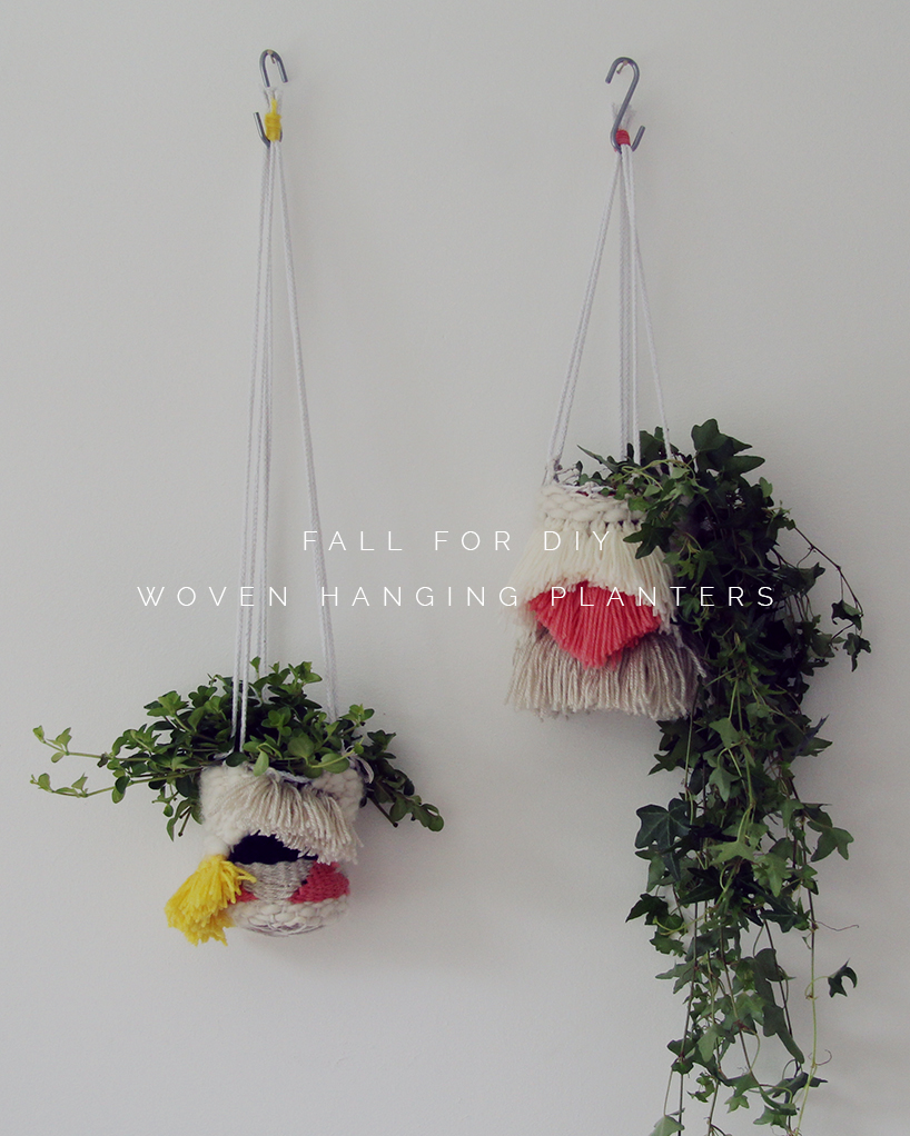 Diy Woven Hanging Planters