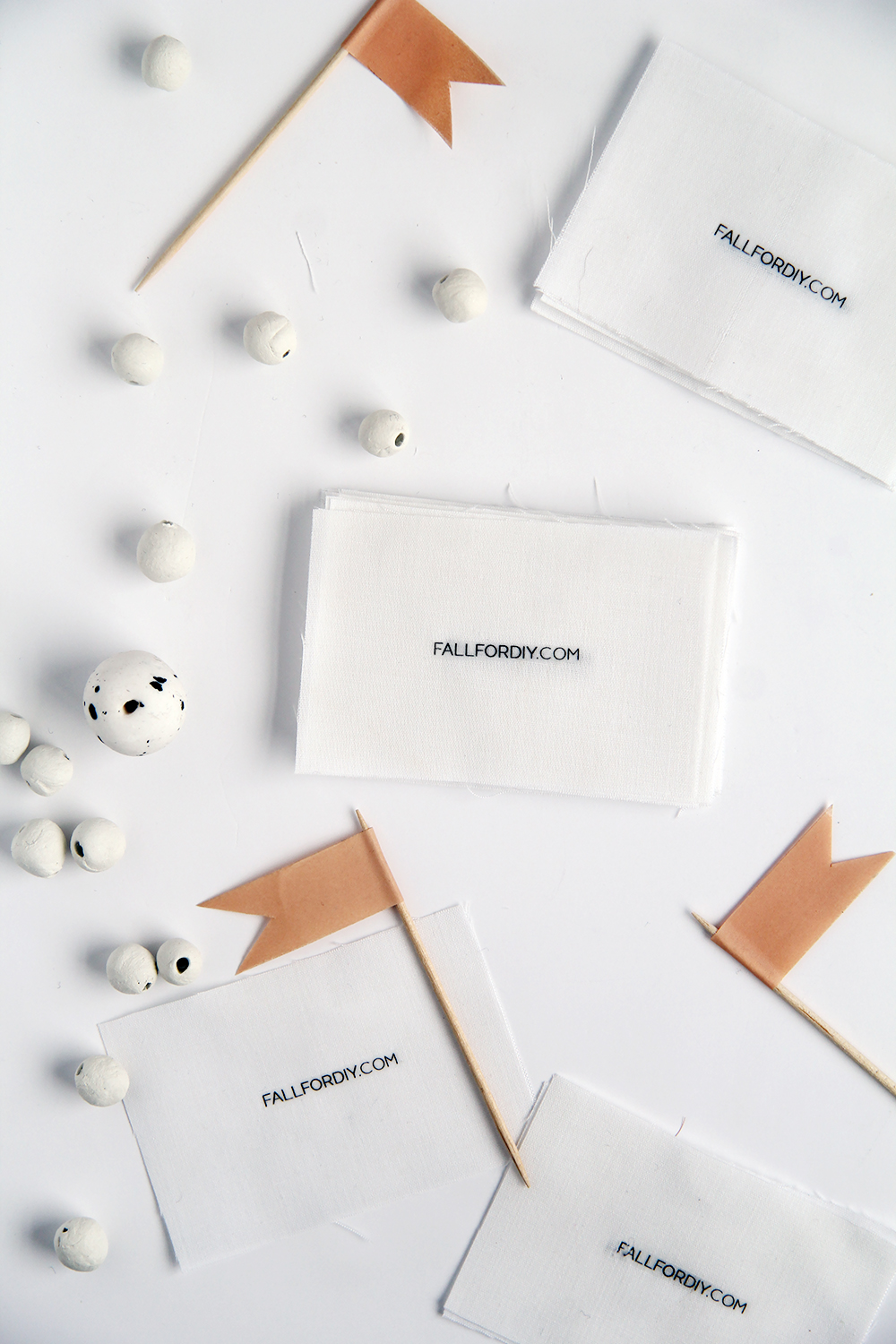 How to Make Fabric Business Cards | Fall For DIY