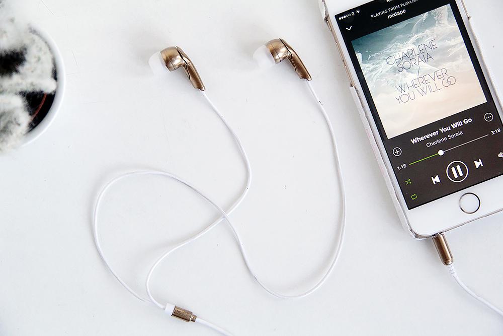 Diy Gold Earbud Headphones Fall For Diy