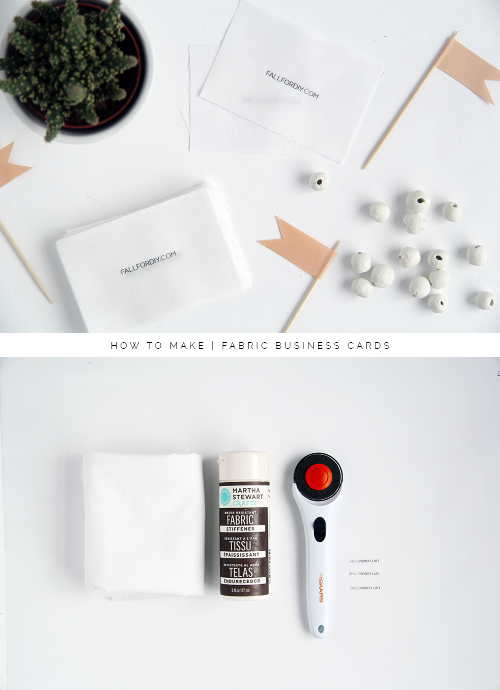 How to make fabric business cards fall for diy materials white cotton fabric colourmoves