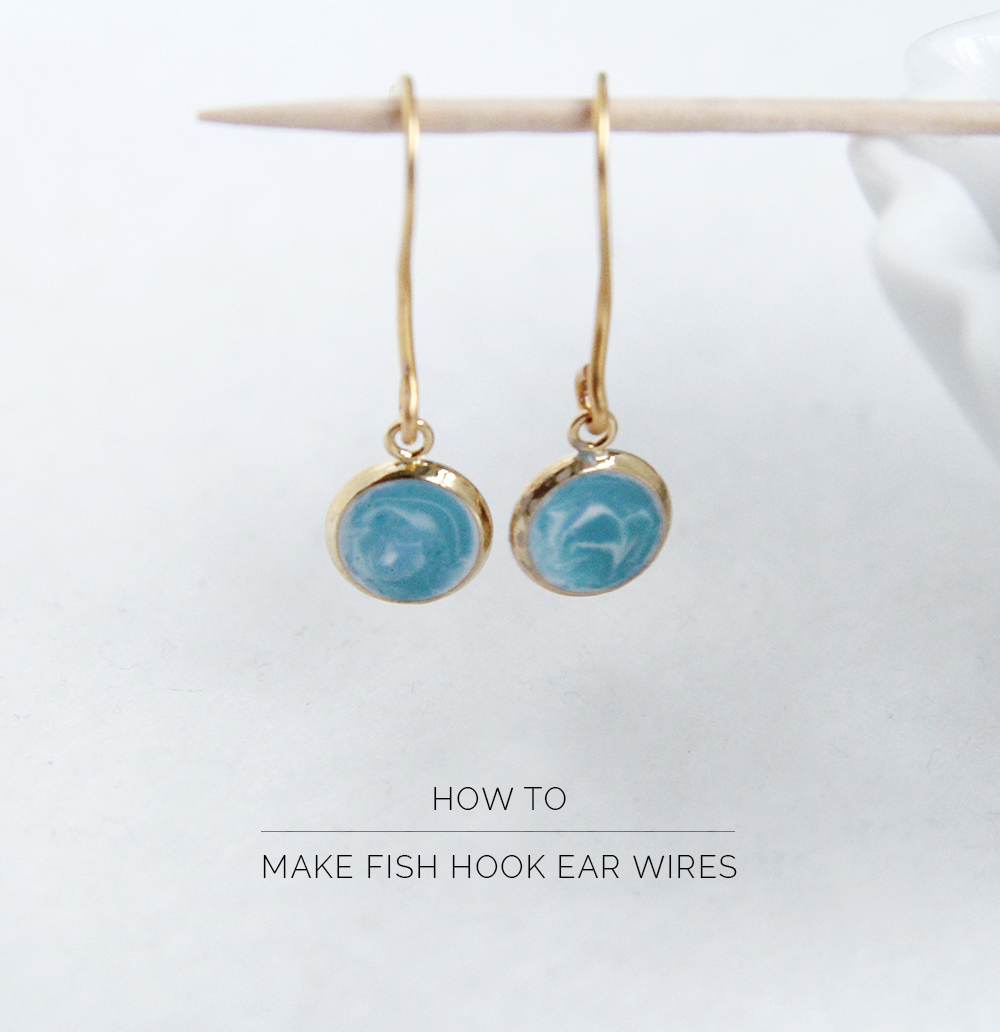 How to make fish hook ear wires fall for diy for How to make fish