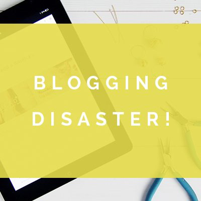 DIY Blogging | Blogging Disaster