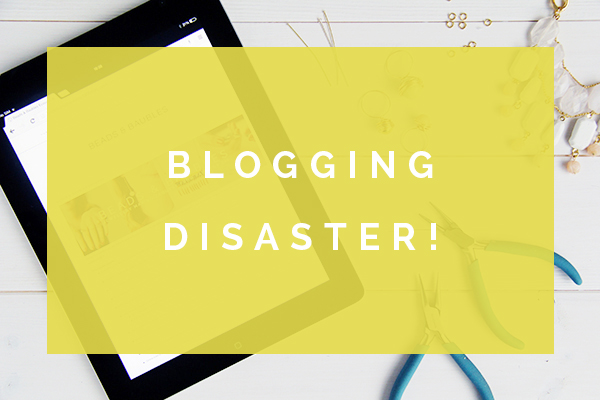 blogging disaster