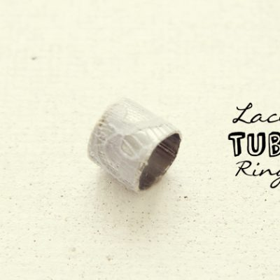 Fall For DIY | Lace Tube Ring