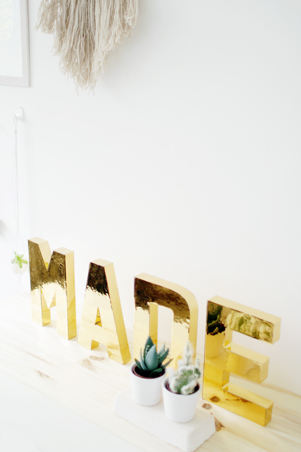 Fall For DIY Gold Letters 10