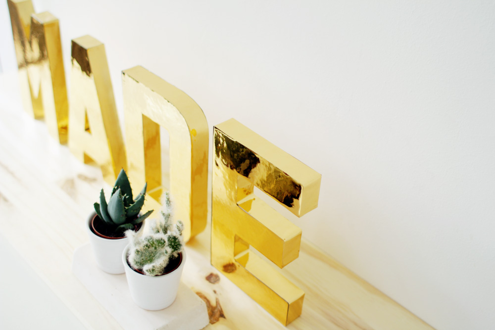 Fall For DIY Gold Letters 11