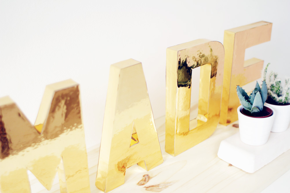 Fall For DIY Gold Letters 14