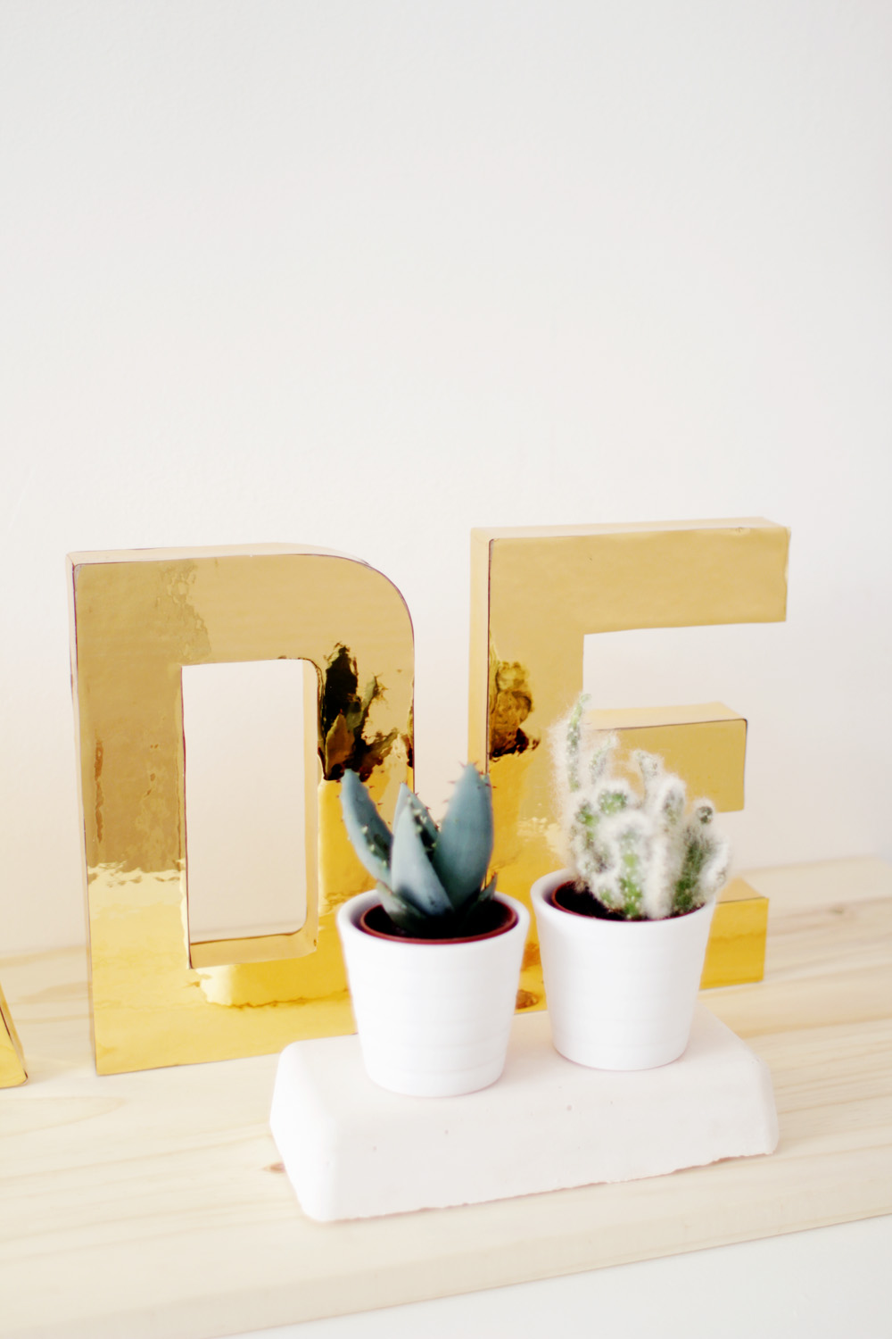 Fall For DIY Gold Letters 6