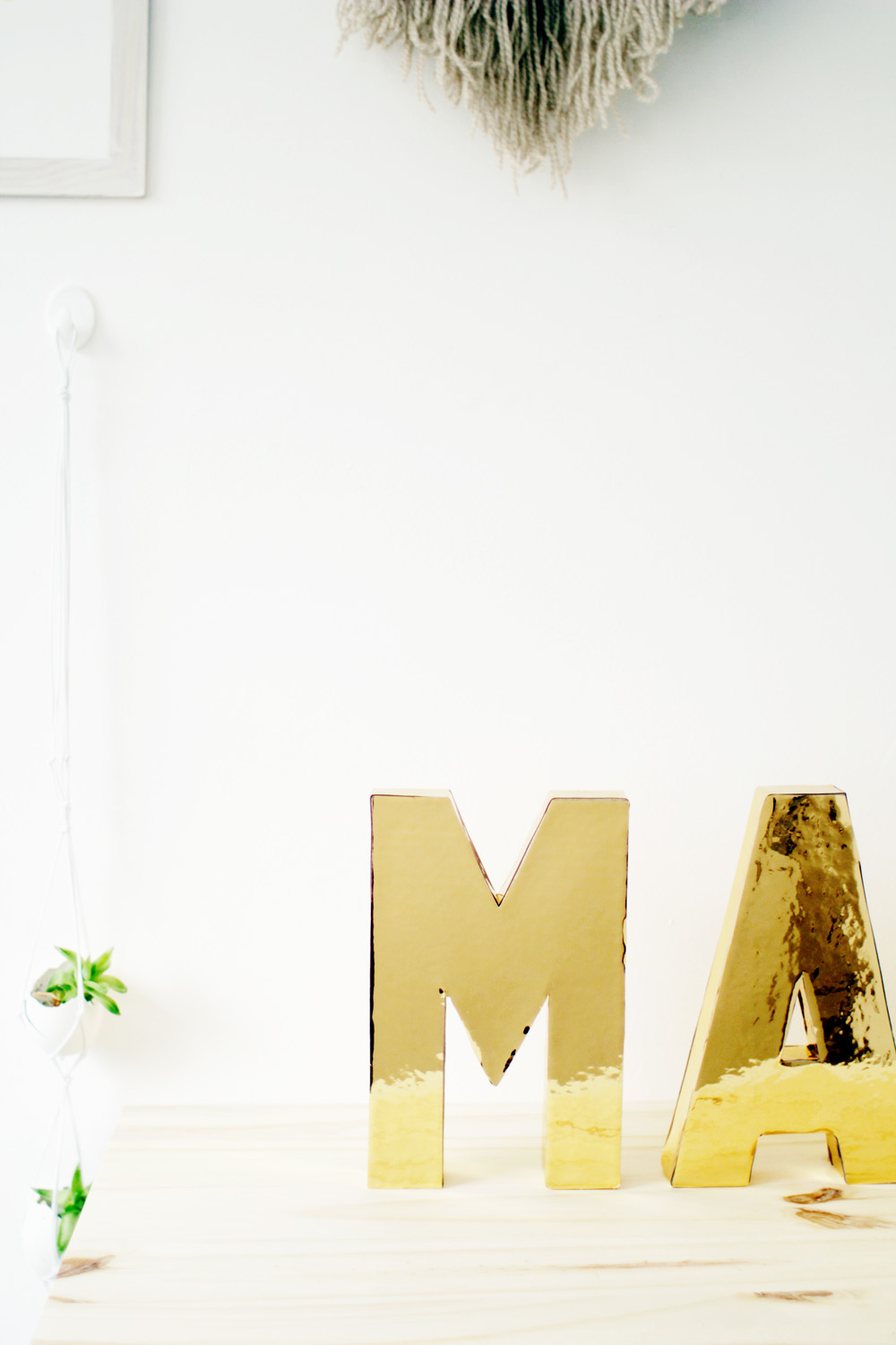 Fall For DIY Gold Letters 7