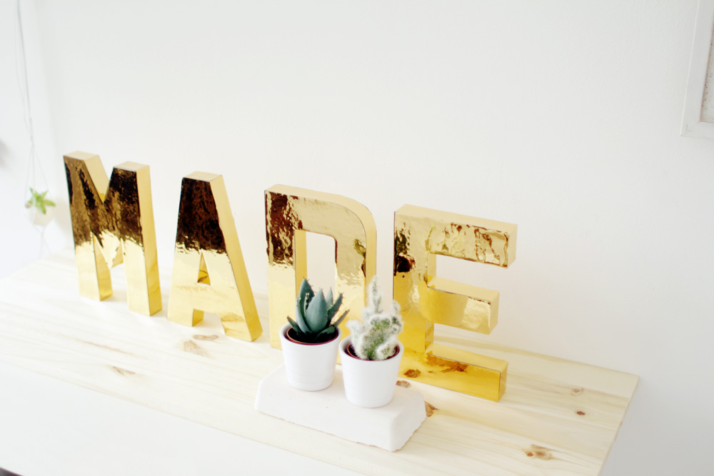 Fall For DIY Gold Letters 9