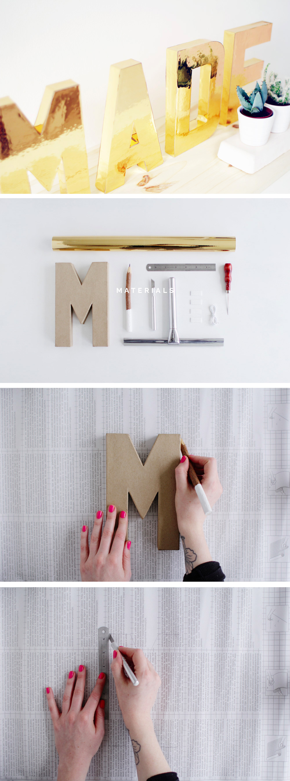 Fall For DIY Gold Letters Tutorial steps 1