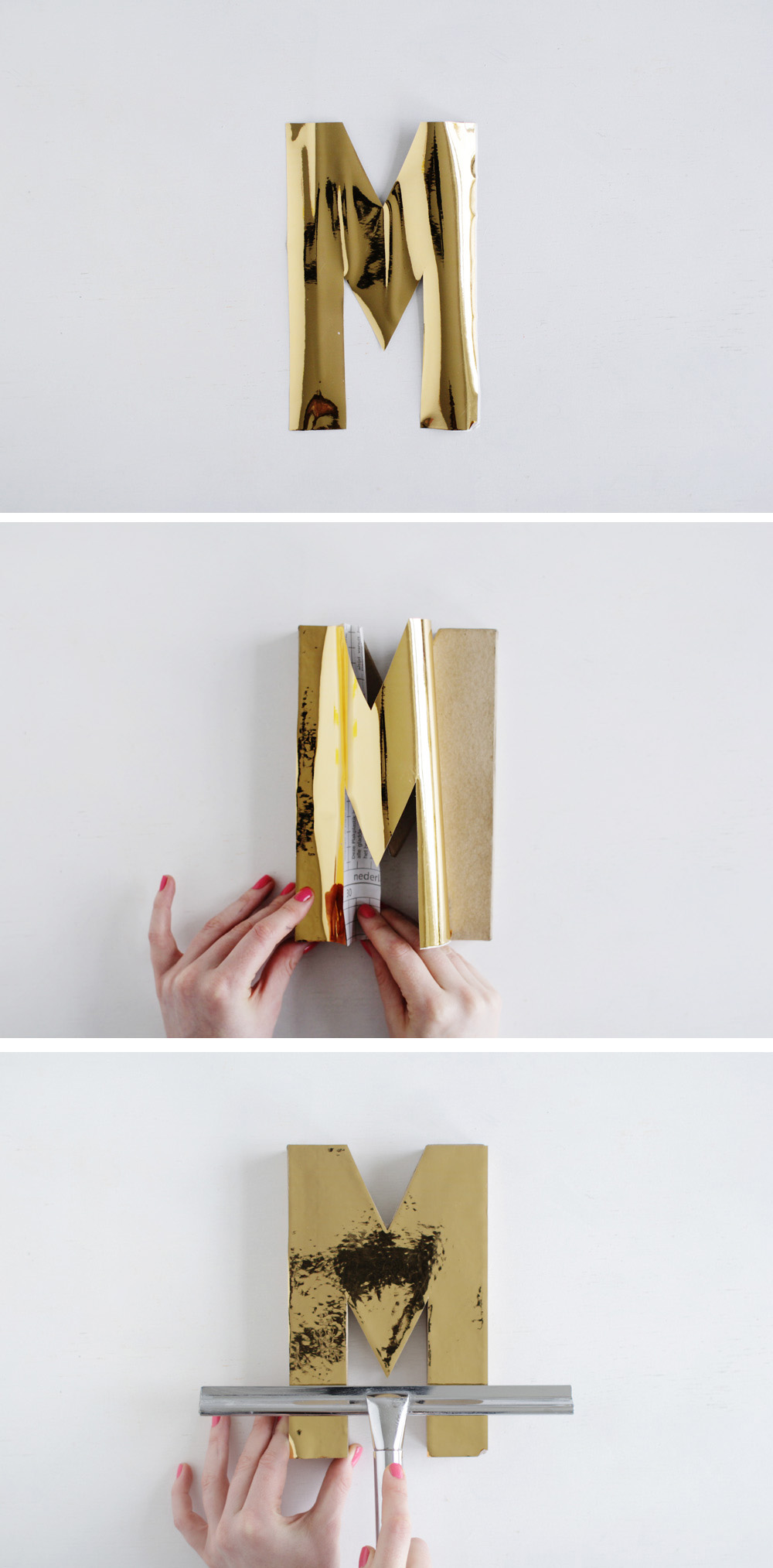 Fall For DIY Gold Letters Tutorial steps 2