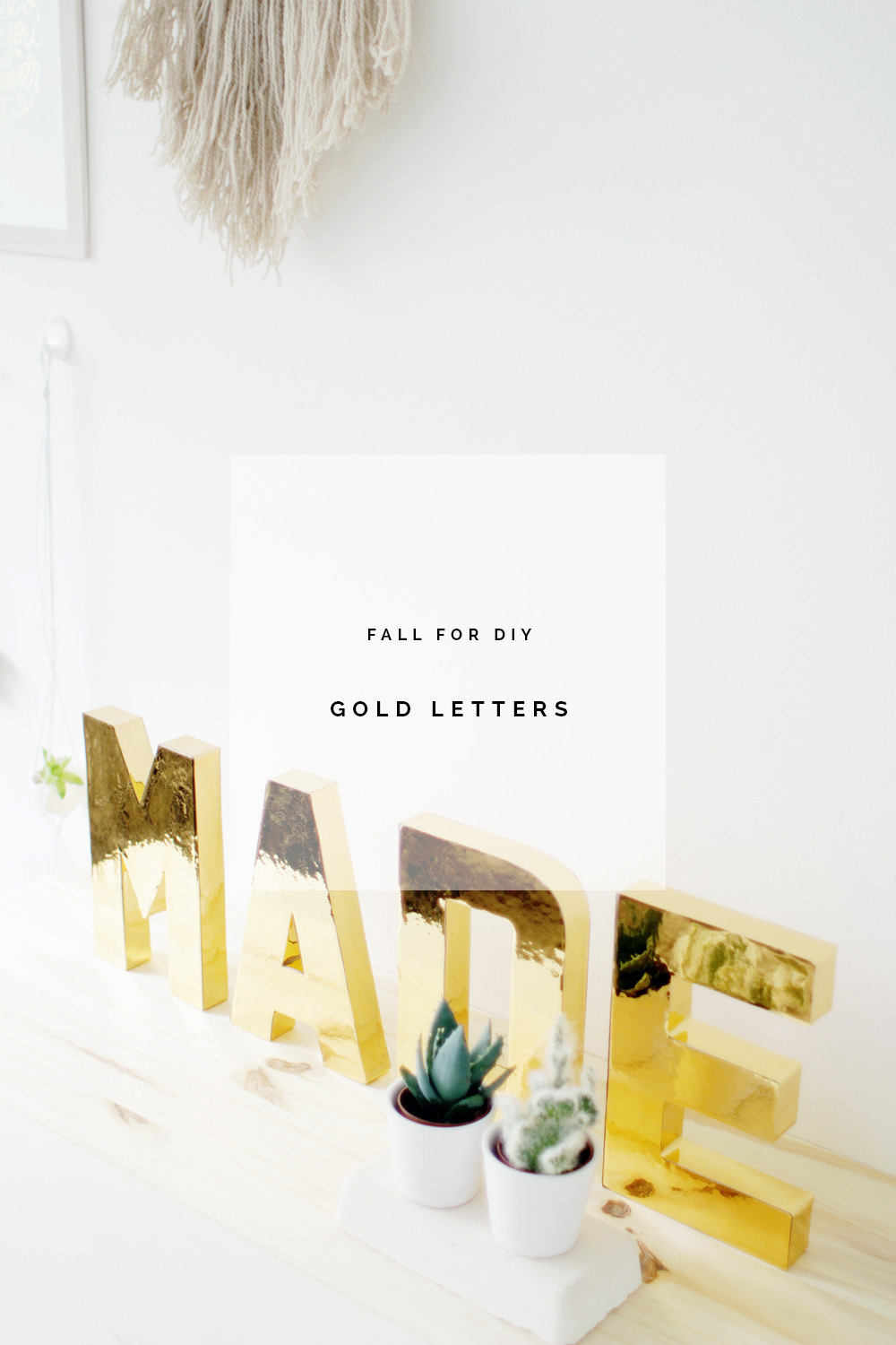 Fall For DIY Gold Letters Tutorial