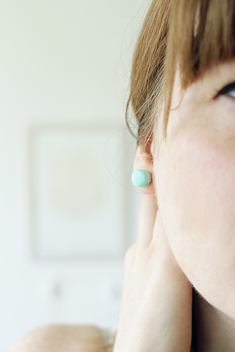 Fall For DIY Mini Macaron earrings