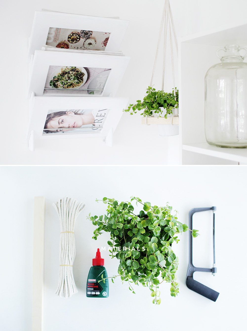 Fall For DIY Sqaure Hanging Planter Materials