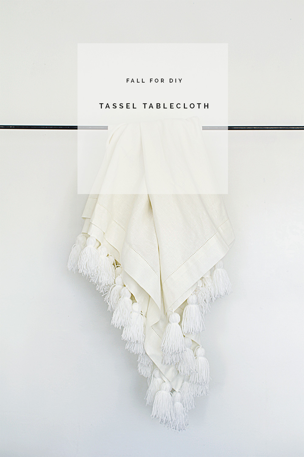 Fall For DIY Tassel Tablecloth