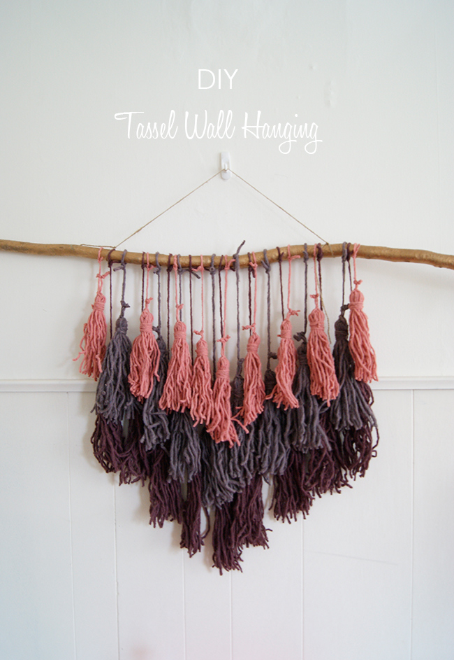 10 tassel projects to get tasselhappy page 7 of 10 for Diy yarn wall art