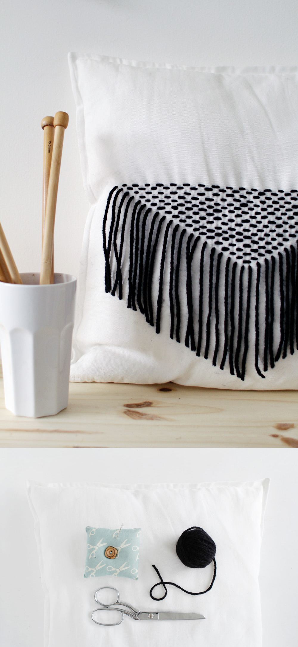 Fall For DIY Stitched Tassel Cushion