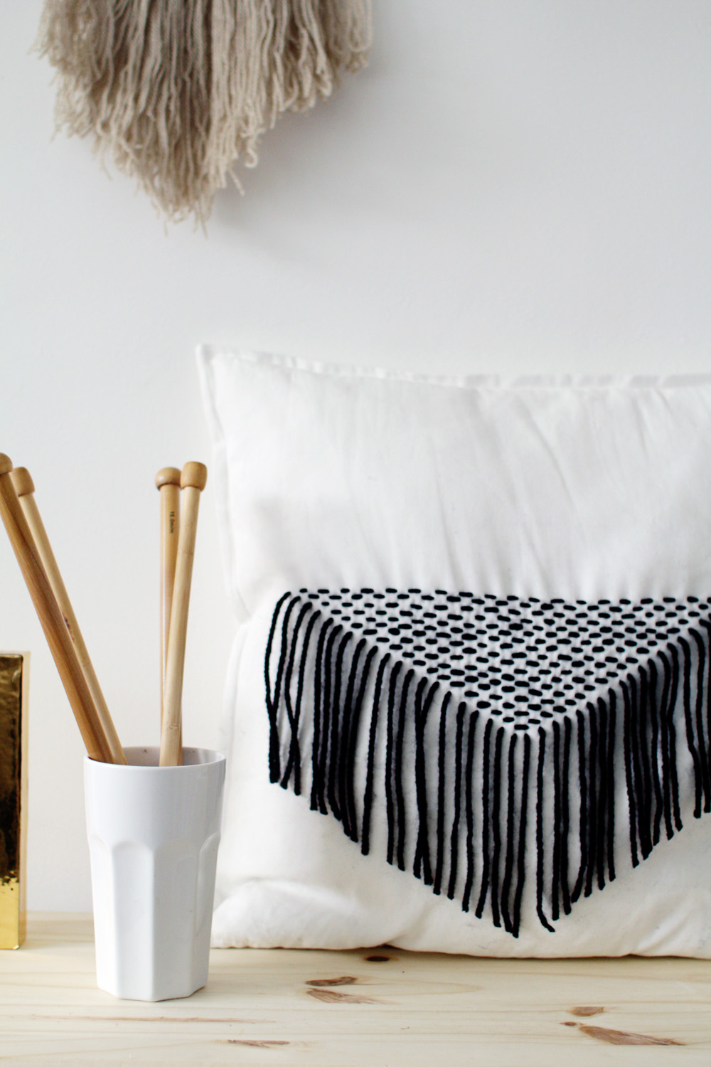 Fall For DIY Stitched Tassel Pillow Tutorial