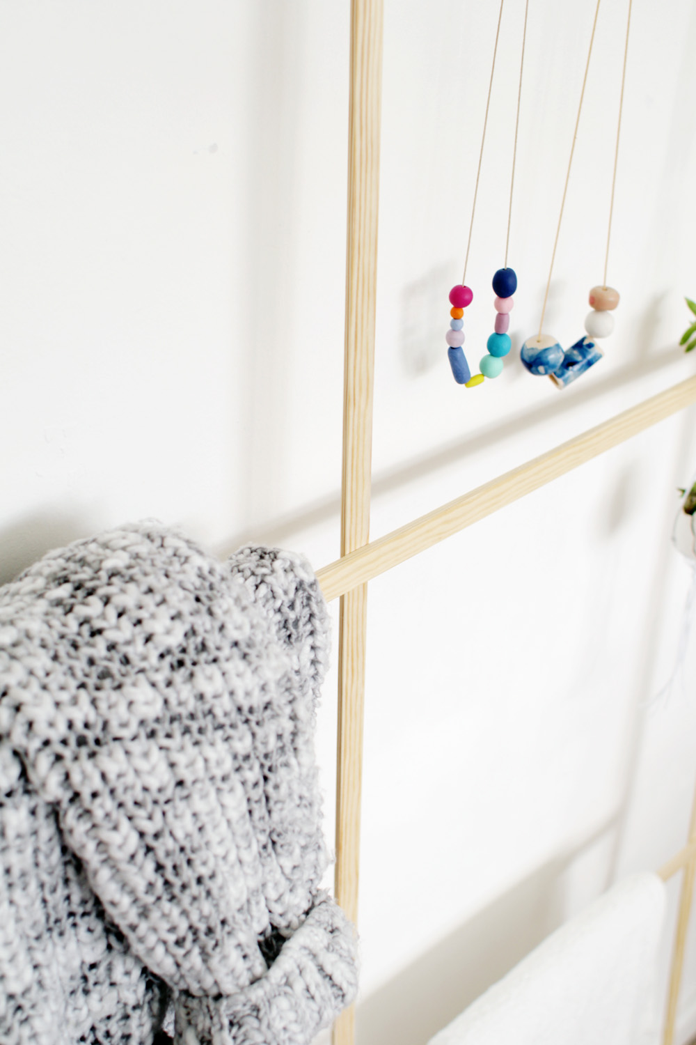Fall For DIY Trellis Clothes Rack 13
