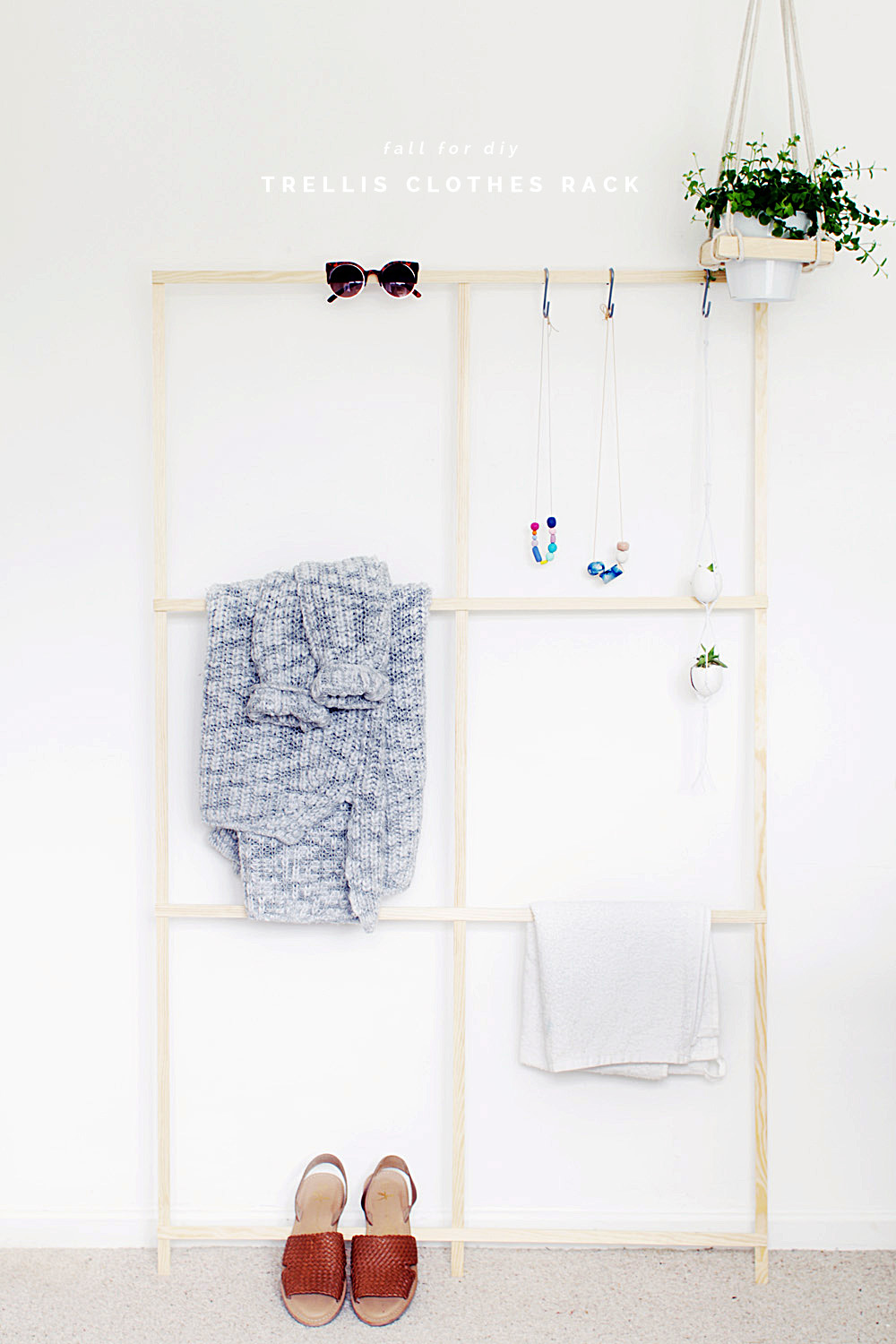 Fall For DIY Trellis Clothes Rack