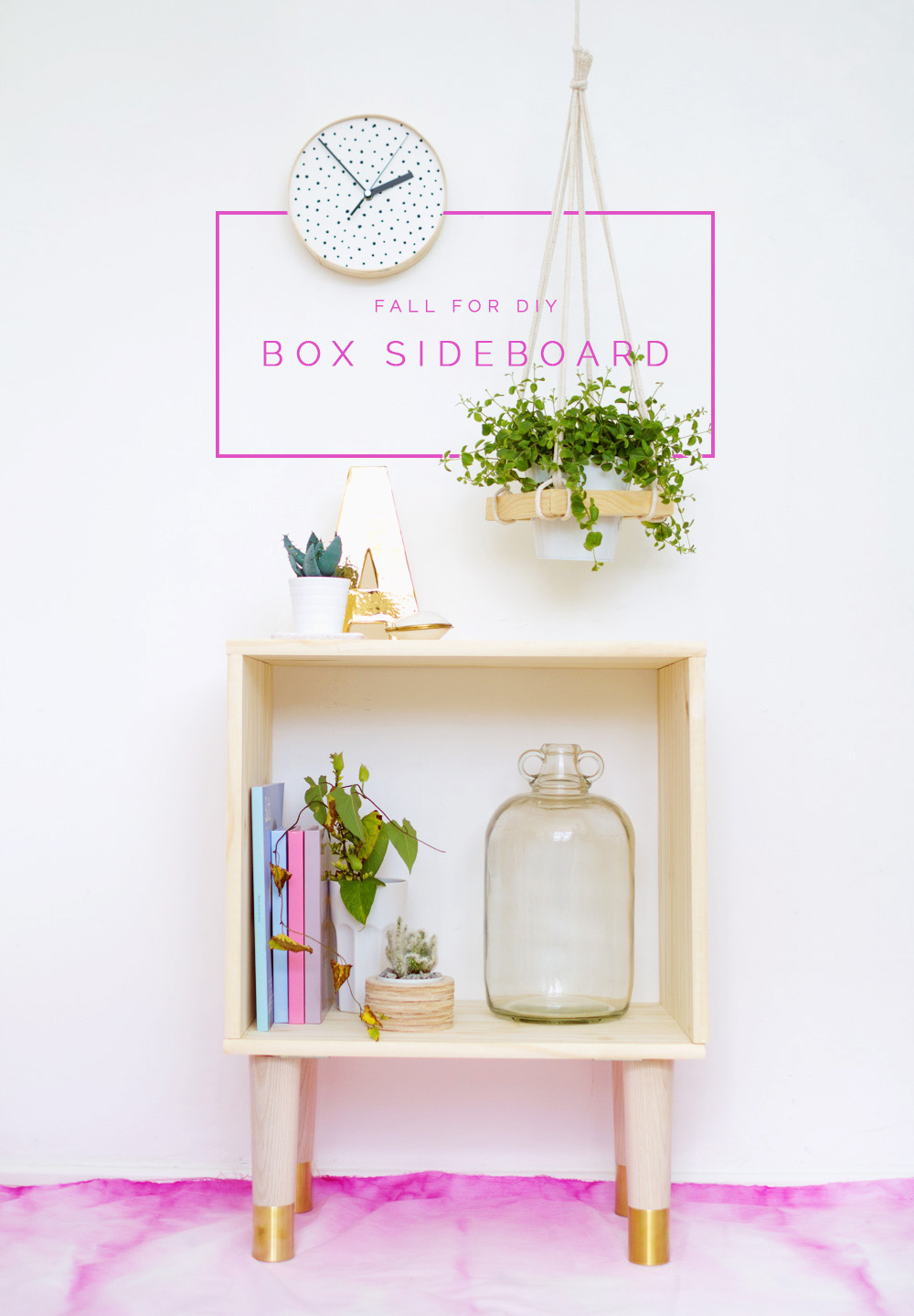 Fall For DIY Box Sideboard tutorial