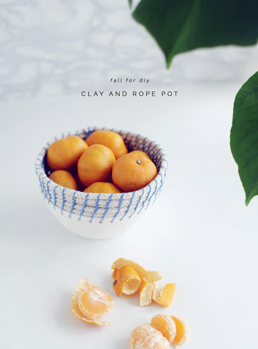Fall For DIY Clay and Rope Pot tutorial