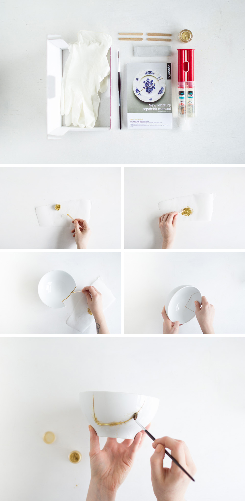 diy gold kintsugi ceramic planter fall for diy. Black Bedroom Furniture Sets. Home Design Ideas