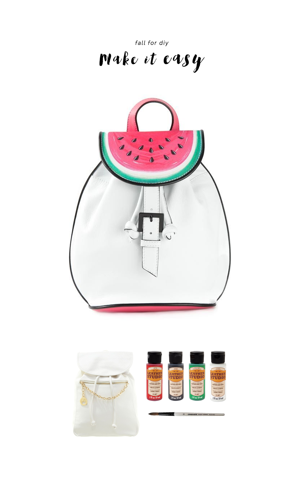 Fall For DIY Make It Easy Watermelon backpack