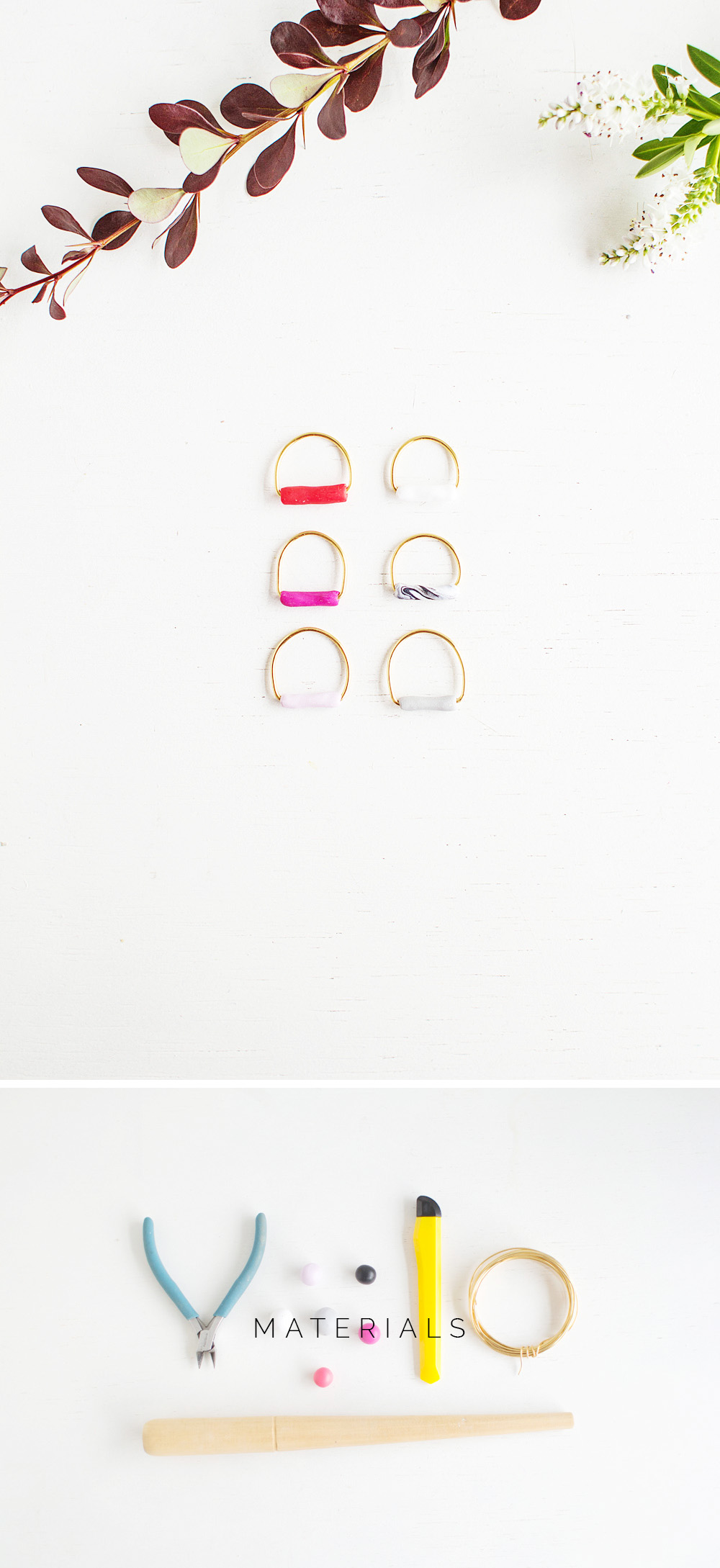 Fall For DIY Tube Ring Materials