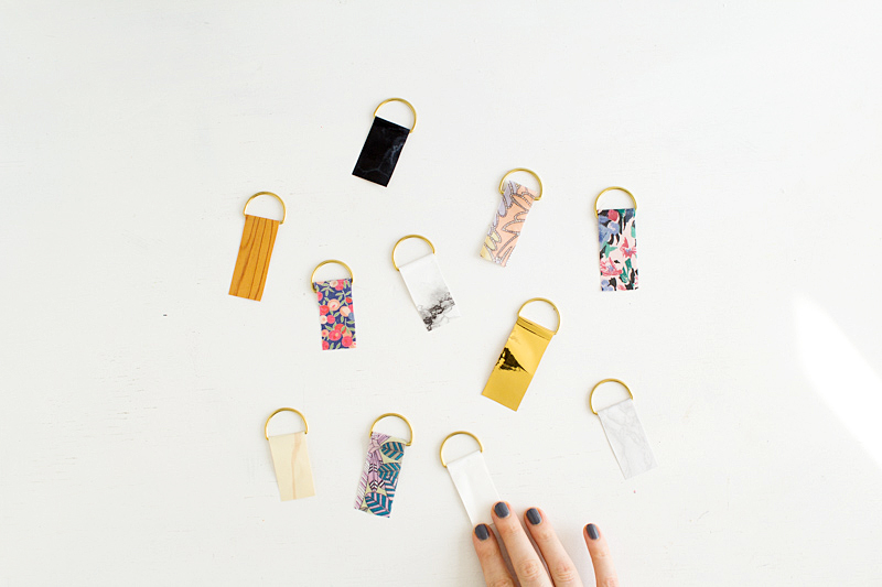 Fall For DIY | Contact Paper Keyrings-13