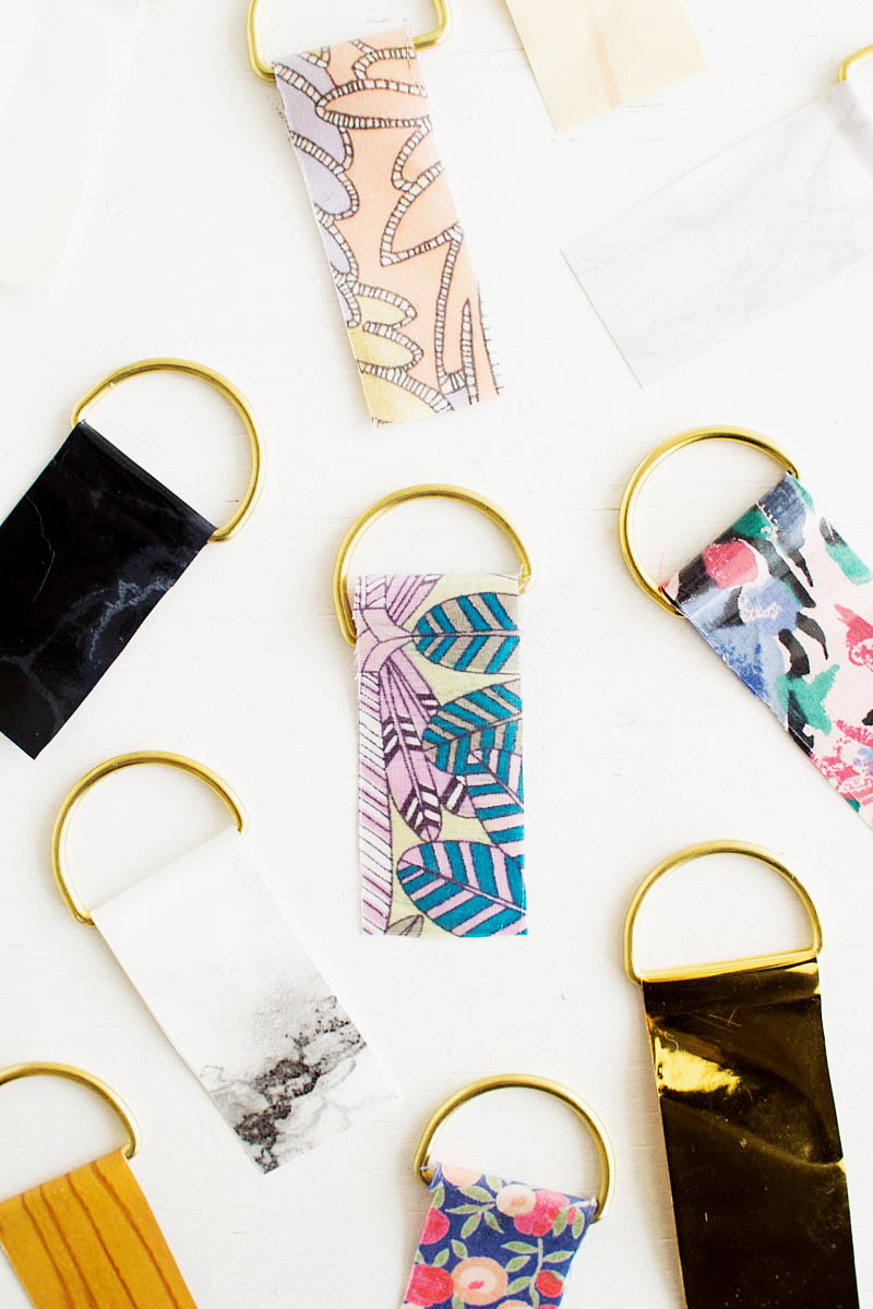 Fall For DIY | Contact Paper Keyrings-19