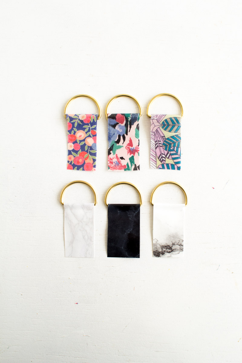 Fall For DIY | Contact Paper Keyrings-26
