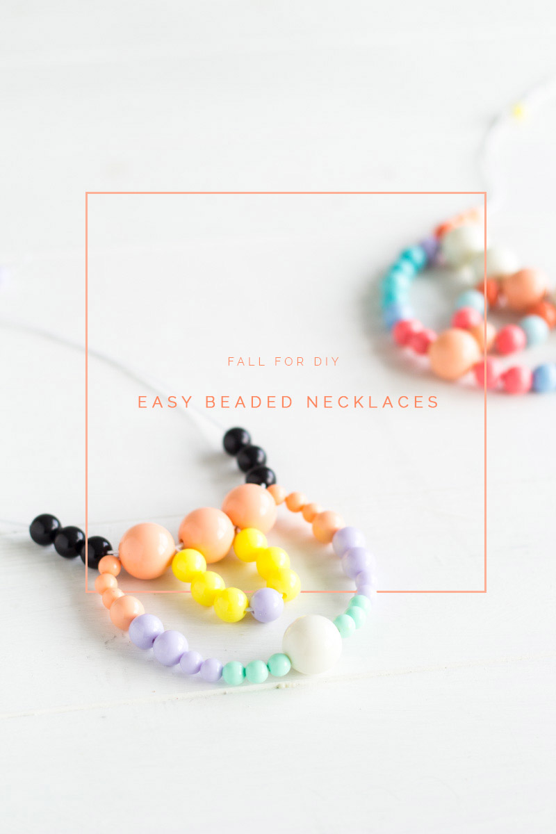 Beaded Necklace | Fall For DIY tutorial
