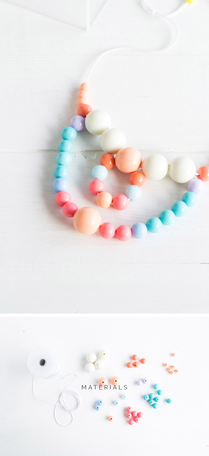 Beaded Necklace tutorial | Fall For DIY materials