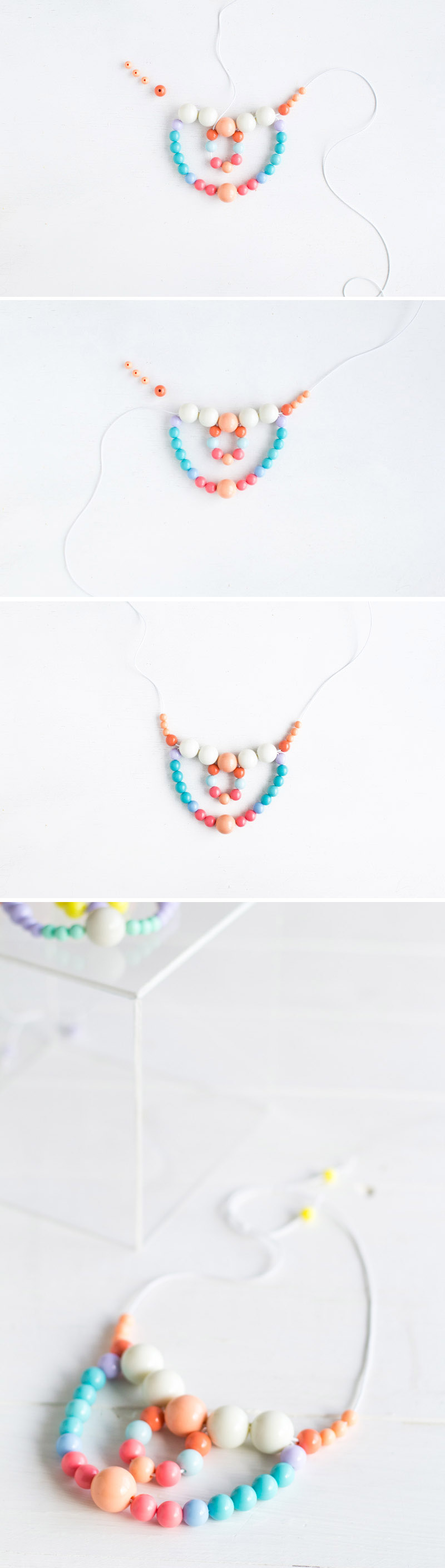 Beaded Necklace tutorial | Fall For DIY steps