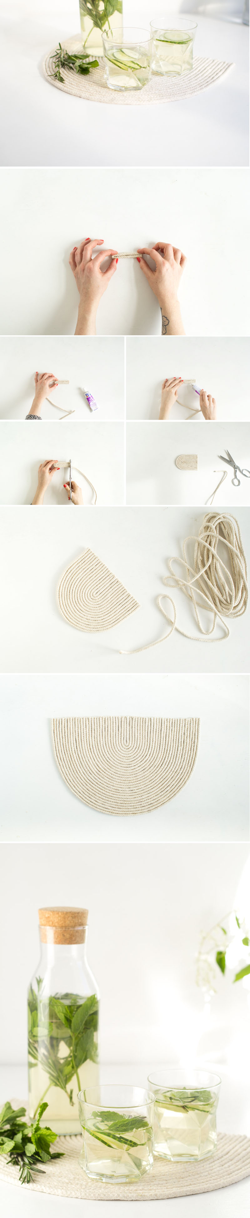 Fall For DIY | Rope trivet mat tutorial