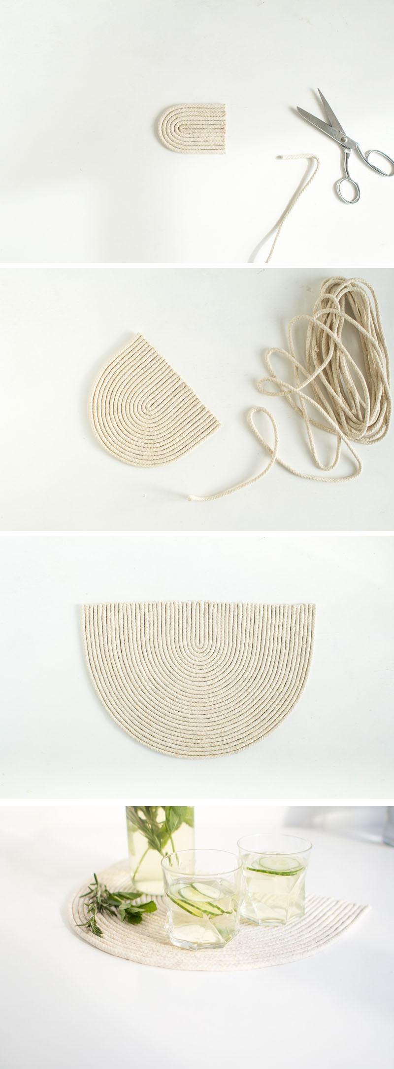 Fall For DIY | Rope trivet mat tutorial steps