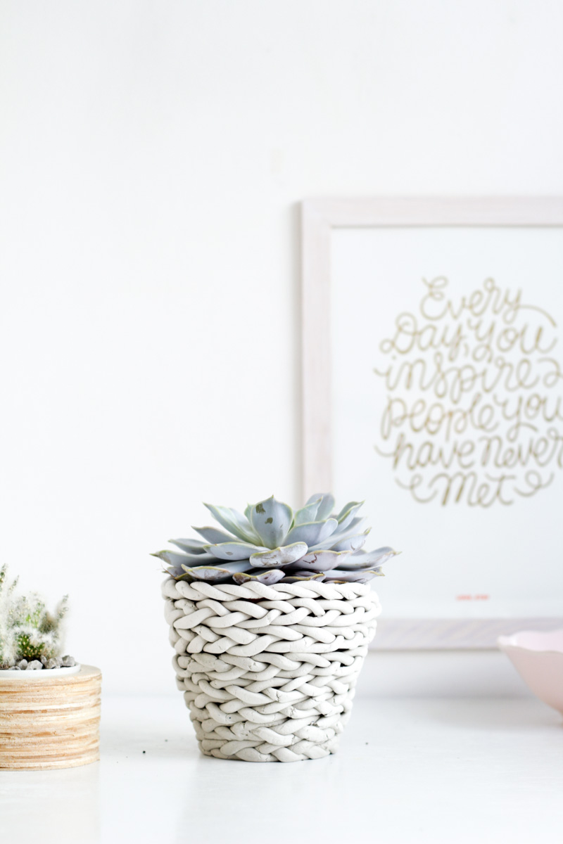 Plaited Planter | Fall For DIY