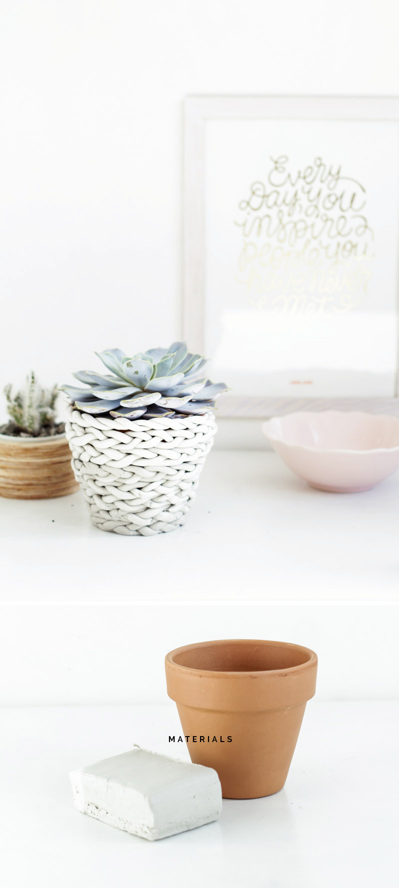 Plaited Planter Materials | Fall For DIY