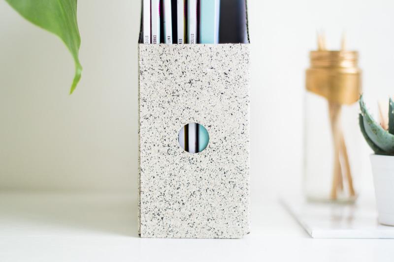 DIY Granite Stone Effect Magazine Files | Fall For DIY