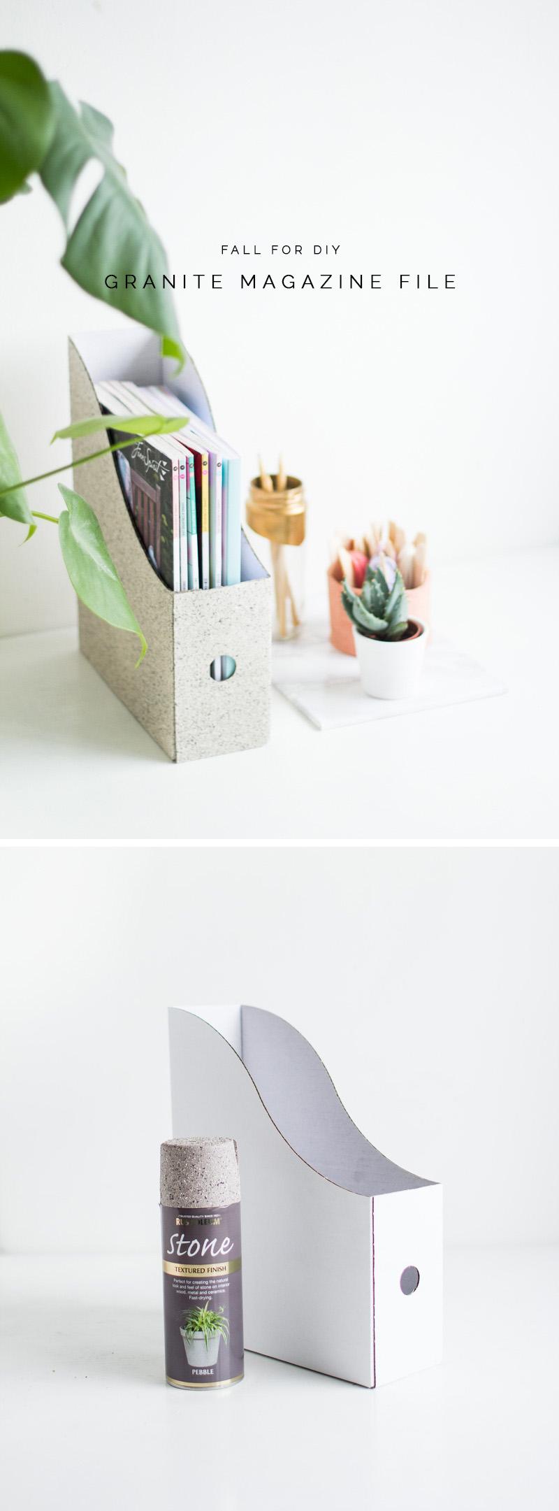 DIY Granite Stone Effect Magazine Files | Fall For DIY Materials