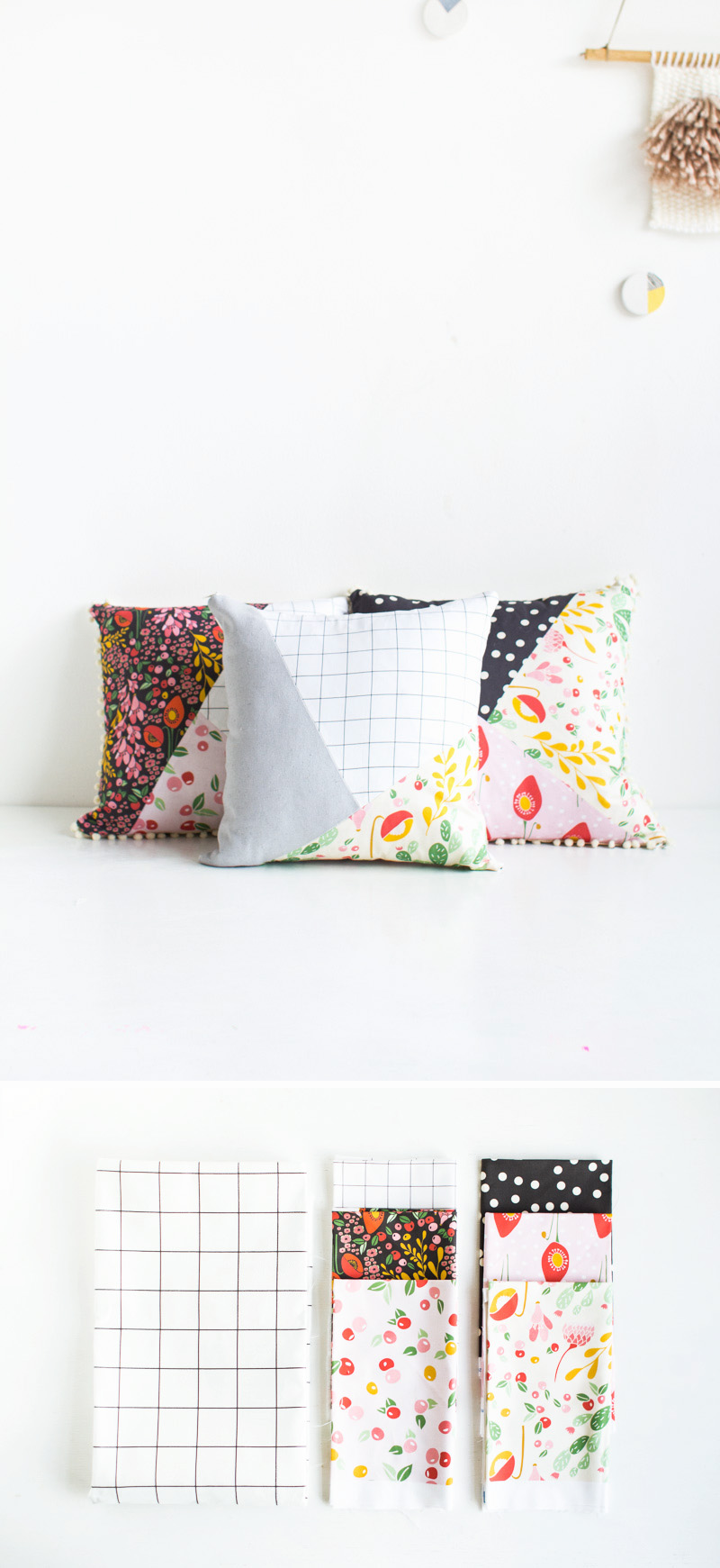 Fall For DIY | Pattern Blocked Pillow materials