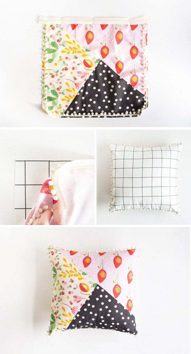 Pattern Blocked Pillow Steps 3 | Fall For DIY