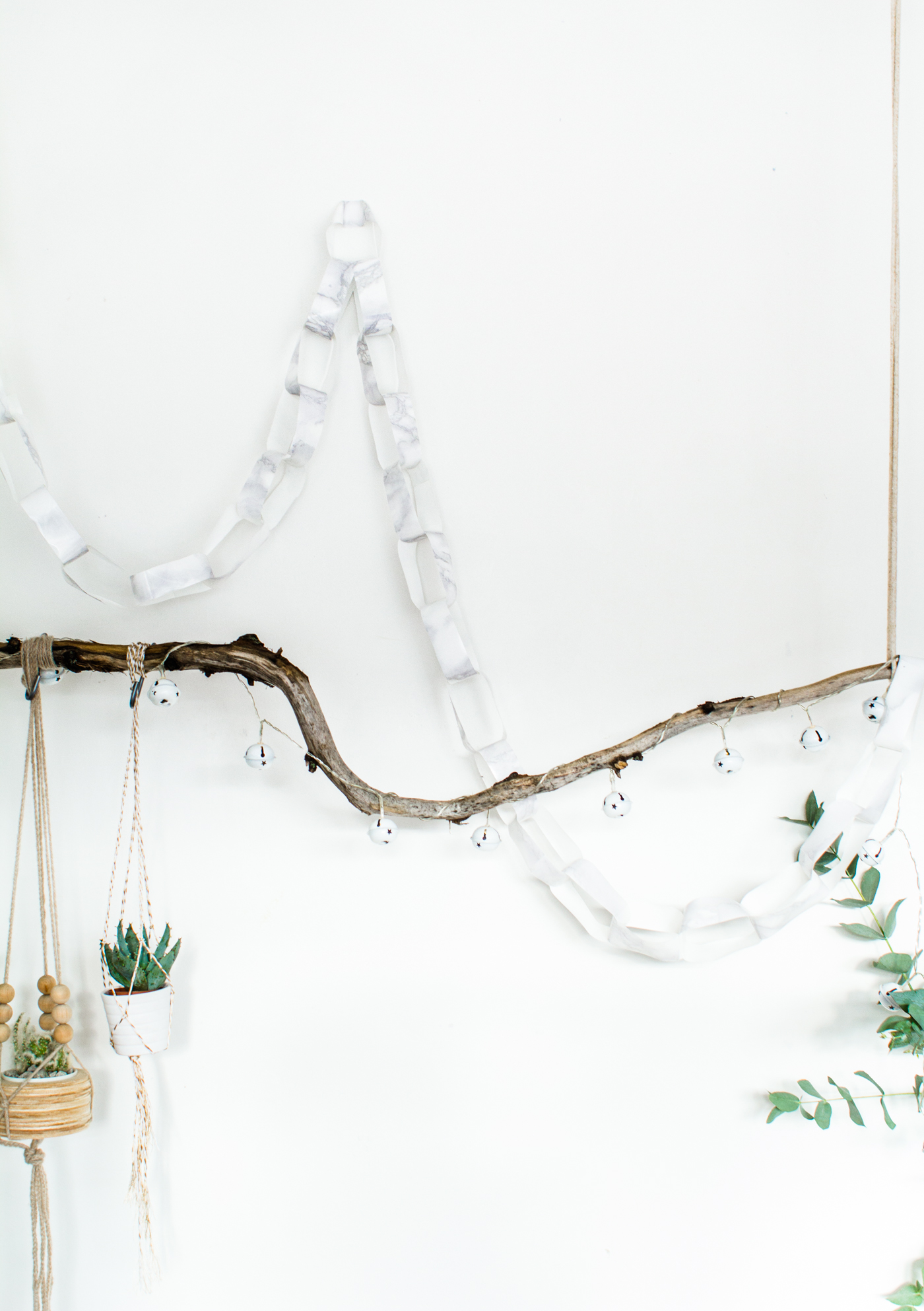 Marbled Paper Chain Christmas Decoration Fall For DIY