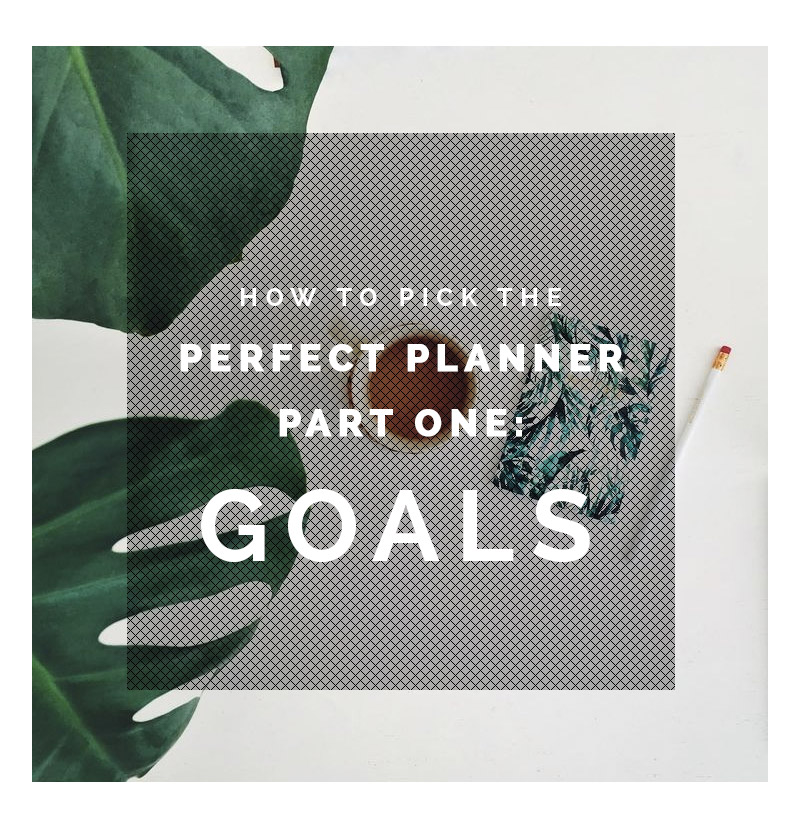 How to Pick the Perfect Planner Part One- Goals | Fall For DIY