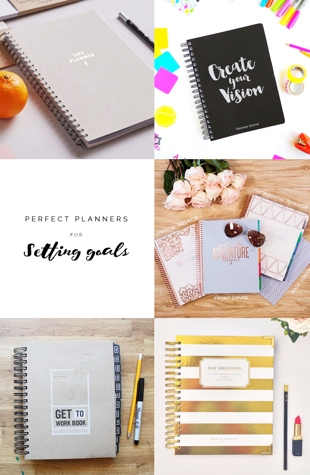 Perfect Planners for setting goals | Fall For DIY